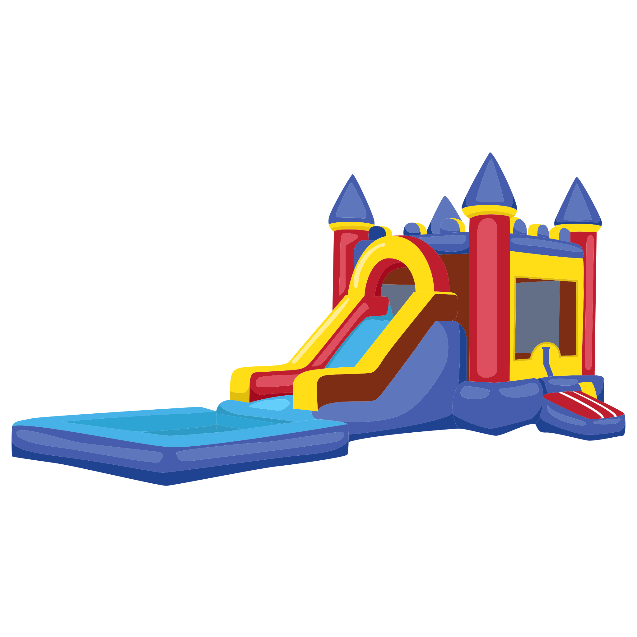 slide-combo-bounce-house-rental-brazos-bounce